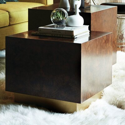 Milton Burl Cube End Table Size: Large