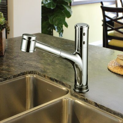Touchless Deck Mounted Kitchen Faucet Finish: Brushed Nickel