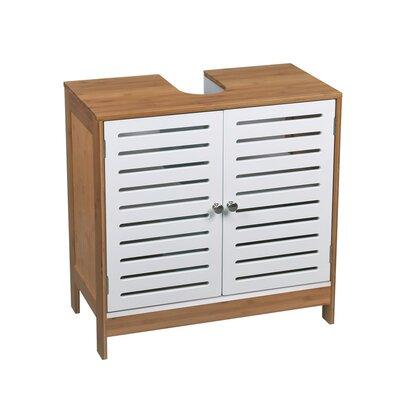 60 cm Waschbeckenunterschrank Stanford   Bad > Badmöbel > Waschbeckenunterschränke   Weiß   Massivholz - Mdf   Hokku Designs