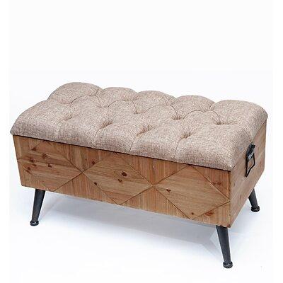 Polster-Truhe Raphaelle | Wohnzimmer > Truhen | Beige | Holz | Laurel Foundry