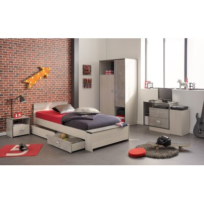 Laureole Twin Storage Platform Bed