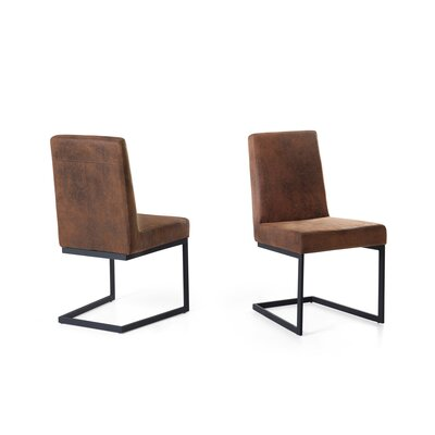 Atticus Dining Chair Upholstered: Brown