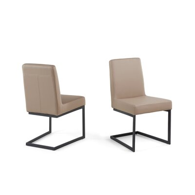 Atticus Dining Chair Upholstered: Cafe Latte