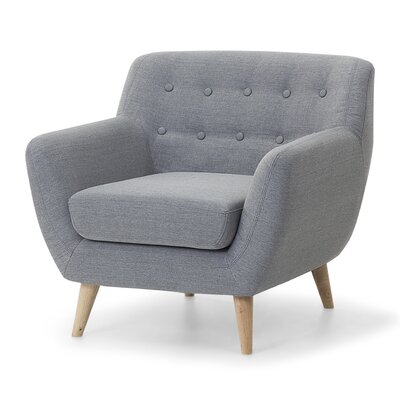 Tally Armchair Upholstery: Light Gray