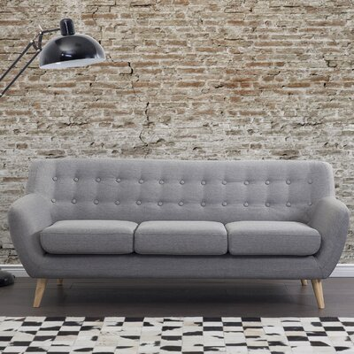 Poppy Standard Sofa Upholstery: Light Gray
