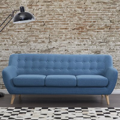 Poppy Standard Sofa Upholstery: Blue