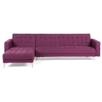 Delia Corner Sofa Bed Upholstery: Violet