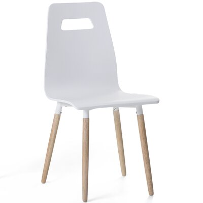 Bola Dining Chair Color: White