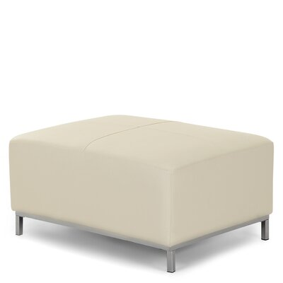 Lillo Leather Cube Ottoman Upholstery: Beige