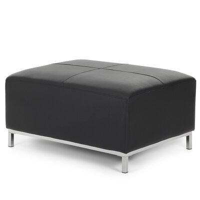 Lillo Leather Cube Ottoman Upholstery: Black