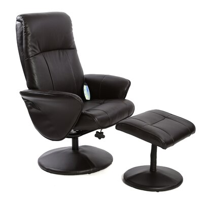 Massage Swivel Recliner and Footstool