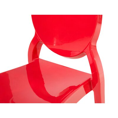 Merton Dining Chair Color: Red