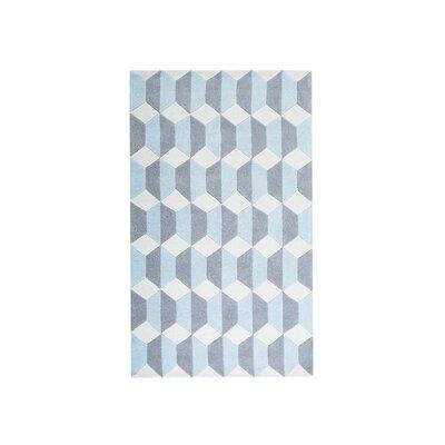 Antalya Blue/Gray Area Rug Size: 52 x 76