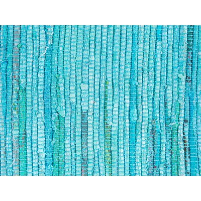 Mersin Handwoven Blue Area Rug Rug size: 27 x 411