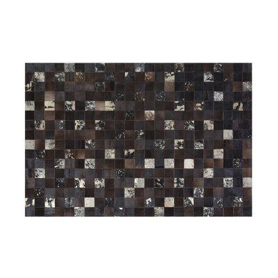Bandirma Hand-Woven Brown Area Rug Rug size: Rectangle 52 x 76