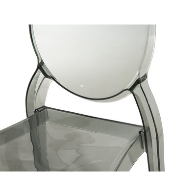 Merton Dining Chair Color: Black-Transparent