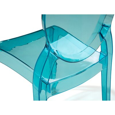 Merton Dining Chair Colour: Blue, Transparent