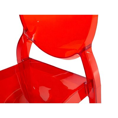 Merton Dining Chair Colour: Red and transparent