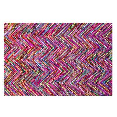 Karasu Hand-Tufted Pink Area Rug Rug size: 52 x 76