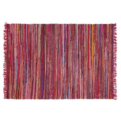 Danca Handwoven Red Area Rug Size: 52 x 76