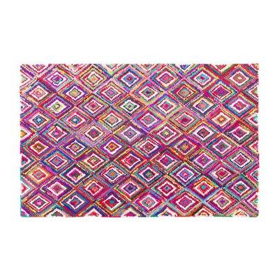 Kaiseri Handwoven Pink Area Rug Rug size: 47 x 66