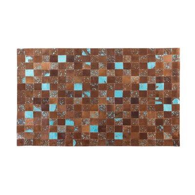 Aliaga Hand-Woven Brown Area Rug Rug size: Rectangle 27  x 59