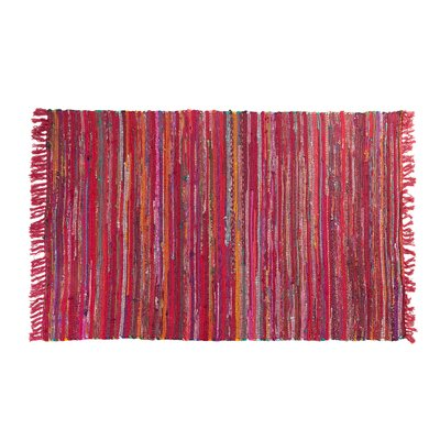 Danca Handwoven Red Area Rug Size: 47 x 66