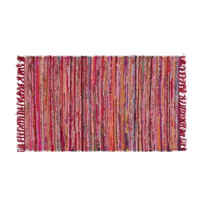 Danca Handwoven Red Area Rug Size: 27 x 411