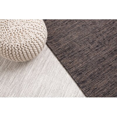 Saray Handwoven Wool Gray Area Rug Rug Size: Rectangle 27 x 411
