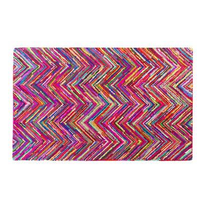 Karasu Hand-Tufted Pink Area Rug Rug size: 47 x 66