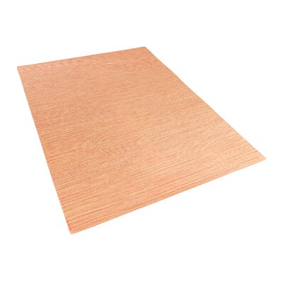 Derince Handwoven Orange Area Rug Size: 47 x 66