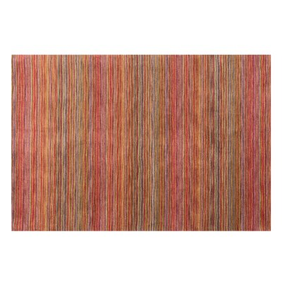 Niksar Hand-woven Wool Orange Area Rug Rug Size: Rectangle 53 x 77