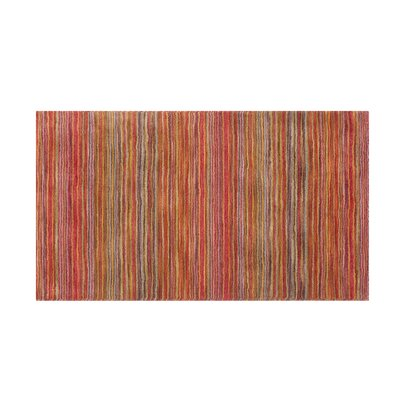 Niksar Hand-woven Wool Orange Area Rug Rug Size: Rectangle 27 x 411