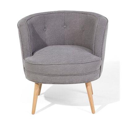 Odenzen Barrel Chair Upholstery: Light gray