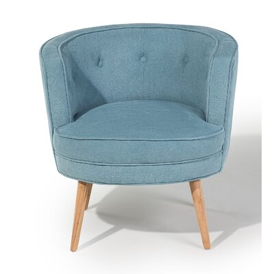 Odenzen Barrel Chair Upholstery: Blue