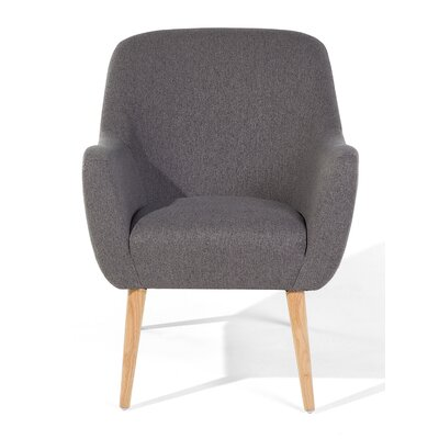 Loken Armchair Upholstery: Gray, Color: Brown