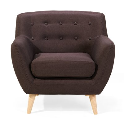 Tally Armchair Upholstery: Dark Brown