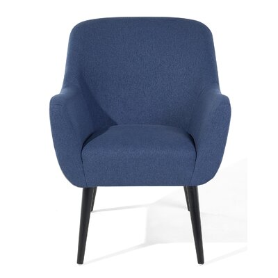 Loken Armchair Upholstery: Dark Blue, Color: Black