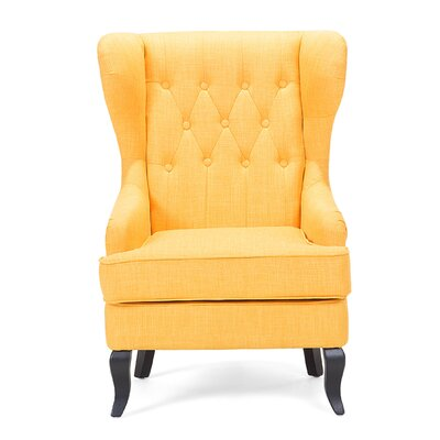 Molde Wingback Chair Upholstery: Yellow