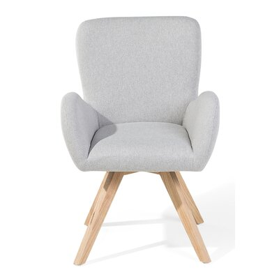 Bjarn Armchair Upholstery: Light Gray, Color: Brown