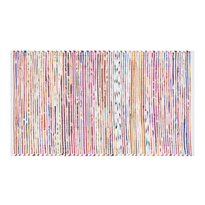 Bartin Handwoven White/Purple Area Rug Rug size: 27 x 411