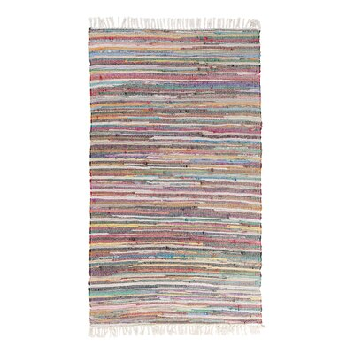 Danca Handwoven Light Pink/Red Area Rug Size: 52 x 76