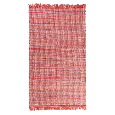Besni Handwoven Red Area Rug Size: 52 x 76