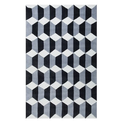 Antalya Hand-Woven Black/Gray Area Rug Rug Size: Rectangle 47 x 66