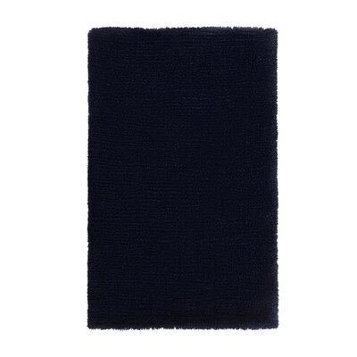 Edirne Hand-Tufted Dark Blue Area Rug Rug Size: Rectangle 53 x 77