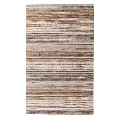 Niksar Hand-Tufted Wool Brown Area Rug Rug Size: Rectangle 27 x 411