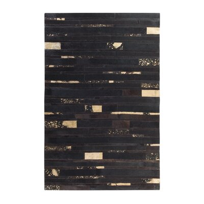 Artvin Hand-Woven Brown Area Rug Rug size: Rectangle 47 x 66