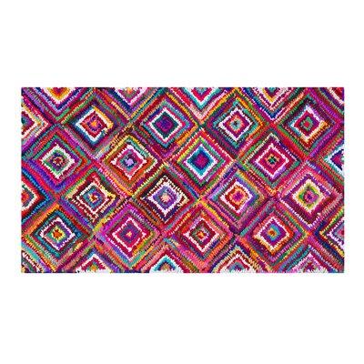 Kaiseri Handwoven Pink Area Rug Rug size: 27 x 411