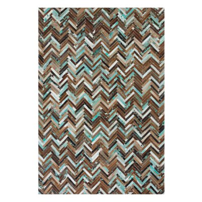 Amasya Hand-Woven Brown Area Rug Rug size: Rectangle 52 x 76
