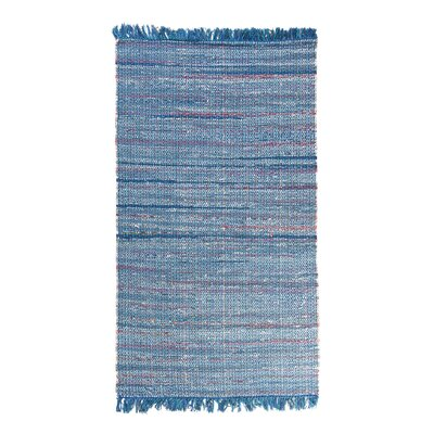 Besni Handwoven Blue Area Rug Size: 47 x 66